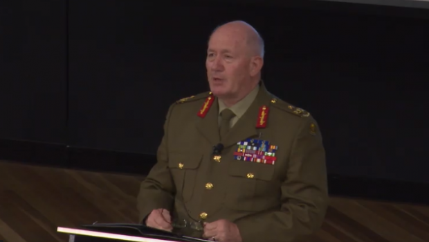 General Sir Peter Cosgrove, AK, MC addressing ADFA Trainees